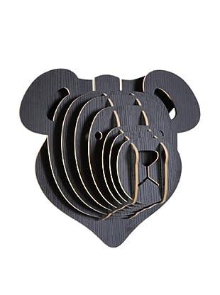 Eco Décor Laser-Cut Animal Trophy Teddy Bear Head, Black