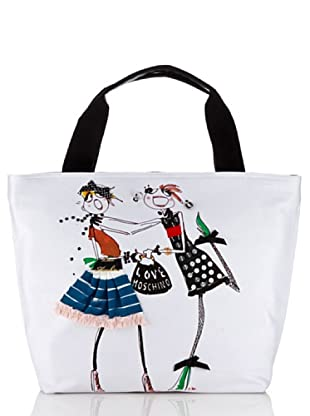 Love Moschino Shopper Canvas Stampa B (Weiß)