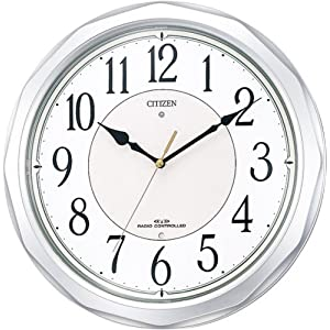CITIZEN (シチズン) 掛け時計 ネムリーナサニー 電波時計 4MY642-019