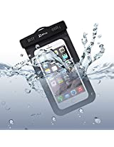 Waterproof Case, with Armband, JETech Universal Waterproof Case Bag Pouch for iPhone 6s/6/5/4, Samsung Gaxaly Note 5/4/3/2, S6 Edge, S6, S5, S4, HTC, and other upto 6 Inch Smartphones