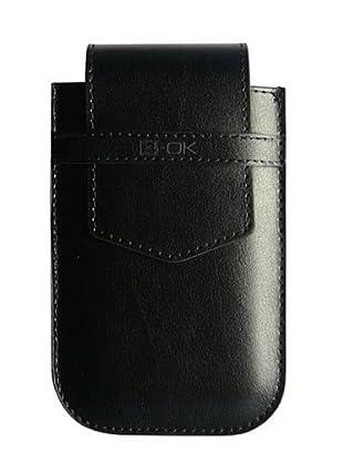 Blautel iPhone Funda 4-Ok Flap Negro