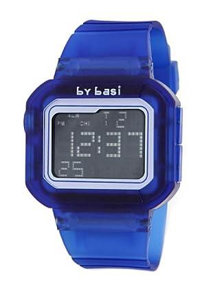 BY BASI A0971U03 - Reloj Unisex movi cuarzo correa policarbonato Azul / Blanco