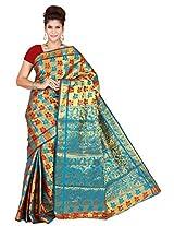 Mimosa Kanchipuram Art silk saree Multy Colour(3131-77-MAROONANANDA)