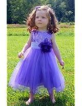 Magic Fairy Girls' Net Dress [MF-305_Lavender_2-3 Years]