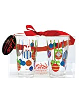 CR Gibson Lolita Acrylic Tumblers, Holiday Baubles, Set of 2