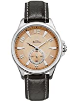 Bulova Adventurer Copper Dial Leather Ladies Watch 96L135