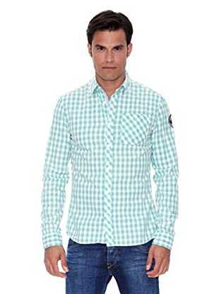 Pepe Jeans London Camisa Hertz (Verde Claro / Blanco)