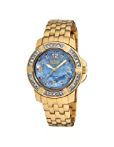 Burgi Mother Of Pearl Dial Gold-Tone Ladies Watch - Bi-Bur069Yg