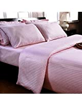 Trance King Cotton Fitted Bedsheet 200 TC - Pink
