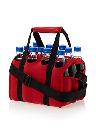 Picnic Time Twelve Pack Insulated Beverage Tote (Red)