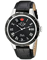 GV2 by Gevril Men's 9503 Scacchi Analog Display Automatic Self Wind Black Watch