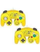 Hori 2 Packs Wii/Wii U Controller Wired Classic Controller Pikachu