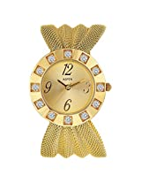 Aspen Feminine Exclusive Analog Gold Dial Men's Watch - AP1103
