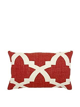 Mela Artisans Ava Silk Lumbar Pillow, Coral