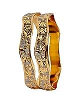 Maayra Classy Silver Gold Micron Gold Plated 2.6 Bangle