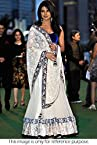 Bollywood Replica Priyanka Chopra Net Lehenga In White and Blue Colour NC295