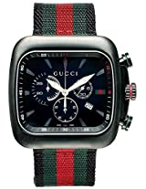 Gucci Chronograph Coupe Green And Red Stripe Nylon Mens Watch Ya131202