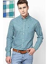Green Regular Fit Casual Shirt Allen Solly