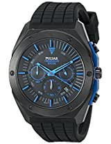 Pulsar Men's PT3519 On The Go Analog Display Japanese Quartz Black Watch