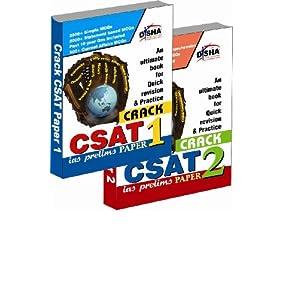 Crack Civil Services General Studies IAS Prelims (CSAT) - Paper 1 & 2 (Set of 2 books)