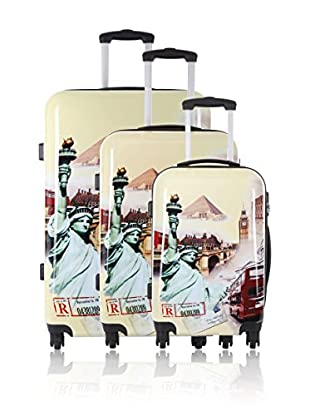 Travel ONE Set de 3 trolleys rígidos Horsham Multicolor