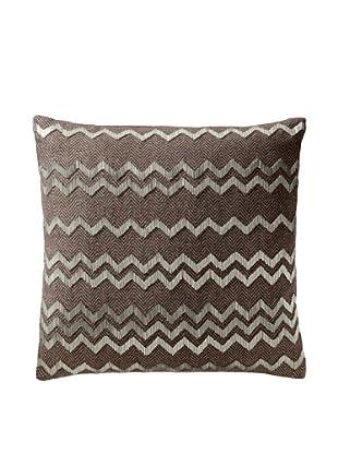 Aviva Stanoff Herringbone Pillow, Brown