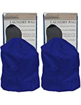 Trademark Global Heavy Duty Nylon Laundry Bag, Jumbo, Blue, Set of 2