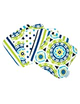 Trend Lab Waverly Solar Flair Wash Cloth Set, Blue/Green, 5 Count
