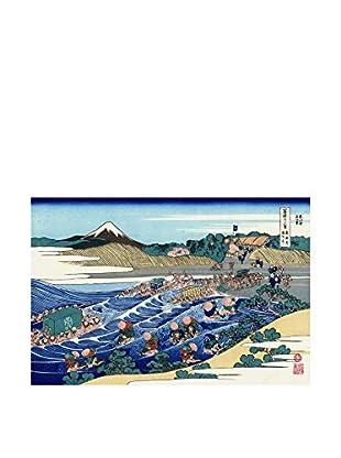 Legendarte Lienzo Katsushika Hokusai - Il Monte Fuji Visto Da Kanaya Sulla Tokaido