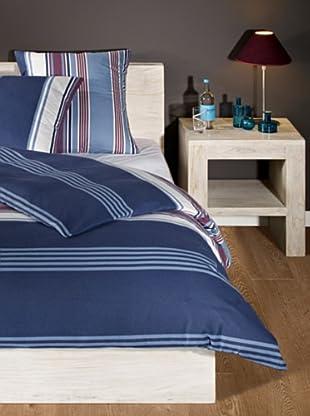 Mistral Home Flanellbettwäsche-Set Coimbra in 3 Größen (blau)