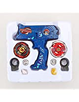 Imported 4D Launcher Grip Beyblade Set - Blue