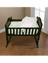 Baby Doll Bedding Royal Pique Port-a-Crib Bedding Set, Sage