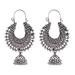 Ganapathy Gems White Metal Alloy Dangle & Drop Earring For Women