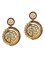 Touchstone Gold Plated Dangle Earring Set for Women - PWETL252-01AREY