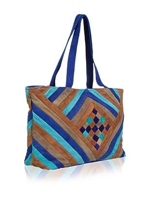Antik Batik Shopper (blau/türkis/beige)