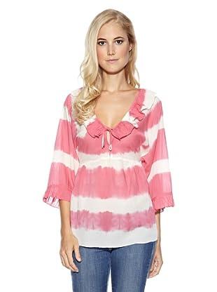 Cream Bluse Evie tie dye (Pink/Weiß)
