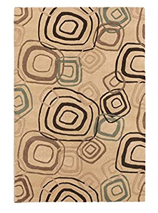Handmade Lattice Rug, Khaki, 4' x 6'