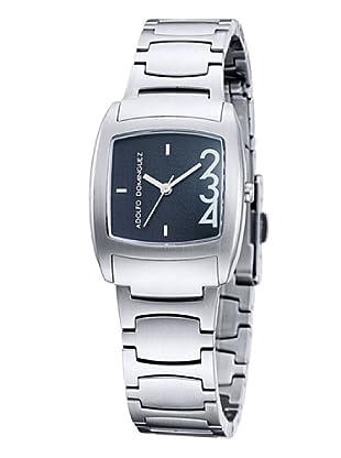 Adolfo Dominguez Watches 39006 - Reloj de Señora cuarzo brazalete metálico dial Negro