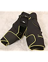 Rakshak Goalie Padded Thighs-Zig Zag Cooper- Adjustable - Full Size