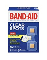 Band-Aid Brand Adhesive Bandages, Clear Spots, 50 Count (Pack of 3) (Packaging May vary)