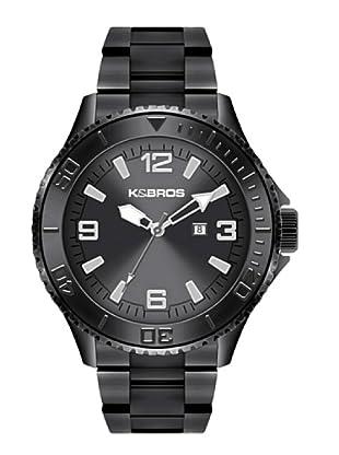 K&BROS 9564-4 / Reloj de Caballero  con brazalete metálico Gris