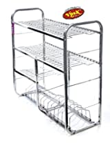 Vpsk Silver square Stainless Steel Kitchen Stand 31*24