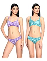 Ultrafit Pack of 2 Cotton Two Piece Lingerie Set