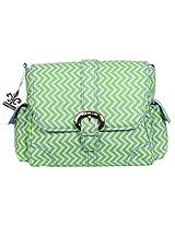 Kalencom Midi Matte Coated Buckle Bag, Wiggly Stripes Beach