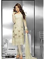 Thankar Latest Embroidered Designer White Anarkali Suits