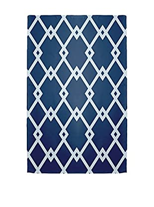 e by design Diamond Links Rug, Blue