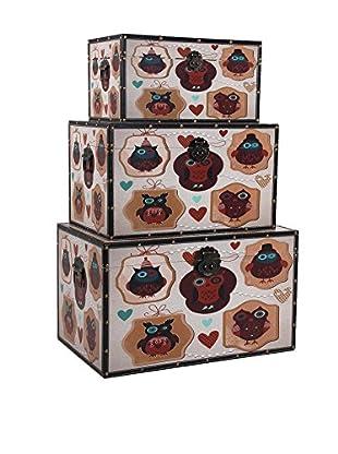 Vical Home Set Baúl 3 Uds. Owls