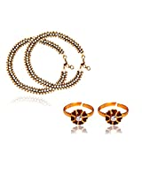 RATNAKAR MULTI PAYAL WITH TOE RING COMBO FOR WOMEN