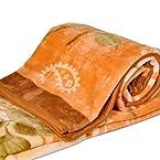 Little India Sanganeri Hand Block Gold Print Cotton 2 Piece Quilt Set - White  (DLI3HFH213)