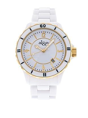al&co Reloj Black And White Blanco